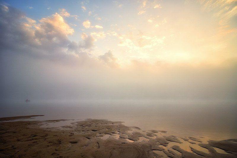 река, закат, солнце, отражение, облака, вечер Эпизод 3 Я в пути...photo preview