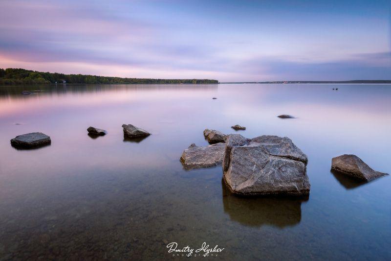 длинная выдержка, вечер, озеро, урал, вода, пейзаж, россия, природа ***photo preview