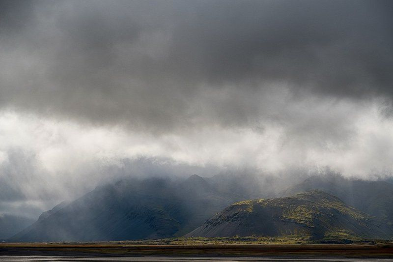 пейзаж, исландия, природа, путешествие, океан, гроза, дождь, горы, iceland, landscape, mountains, trip, traveling, rain Исландские пейзажиphoto preview