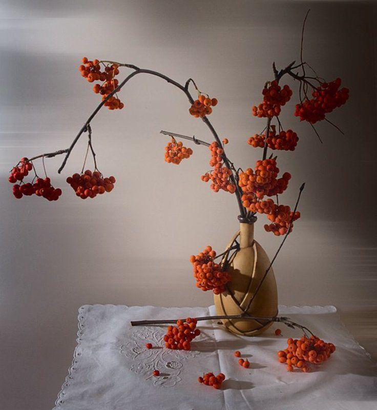 funtry, букет, ваза, ветки, керамика, композиция, натюрморт, осень, рябина, салфетка, ягоды Рябиновыйphoto preview