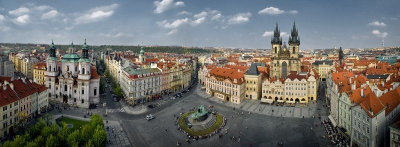 чехия,прага,площадь,панорама Староместская площадь.photo preview