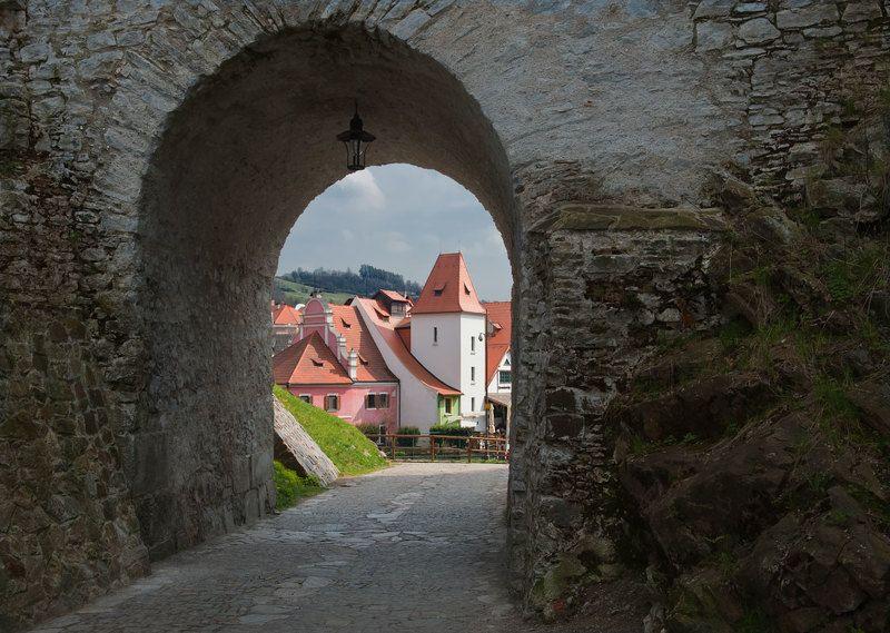 чехия,ч.крумлов,замок Ворота в прошлоеphoto preview