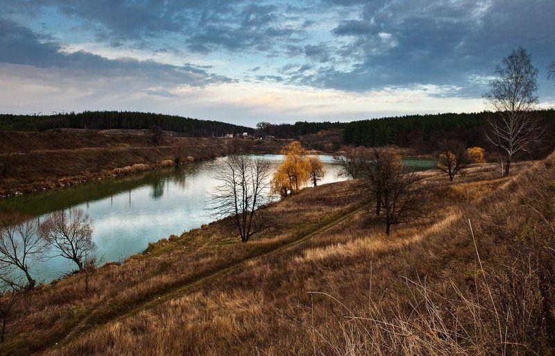 озеро, облака, осень, ноябрь ***photo preview
