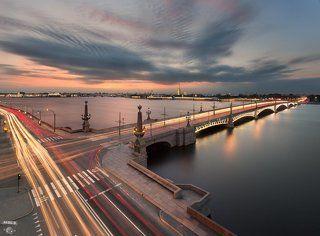Троицкий мост, Нева, Петропавловская крепость