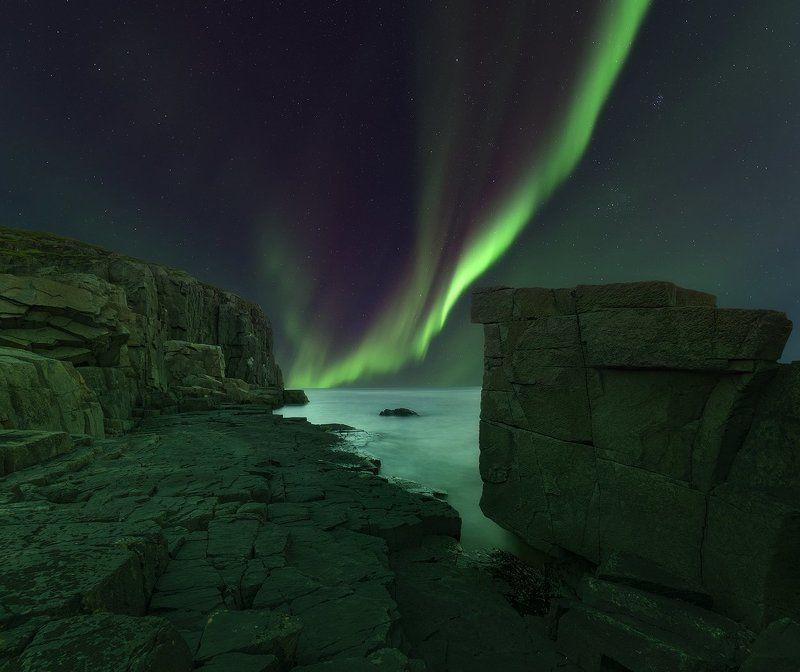 Aurora borealis, Северное сияние, Кольский полуостров Aurora borealisphoto preview