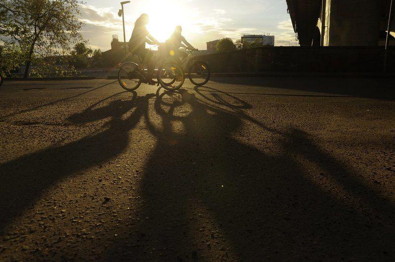 солнце, тень, велосипед ***photo preview