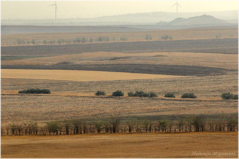 крым, керченский полуостров, ветряки, степь Крым. Керченский полуостровphoto preview