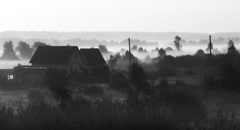 Осеннее утро в деревнеphoto preview