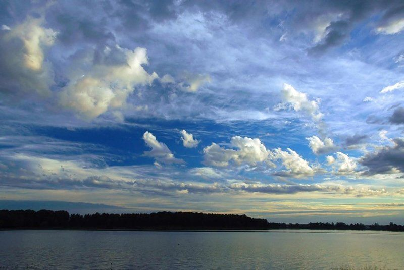 бологое, облака,озеро, август 2007 Бологовское небоphoto preview