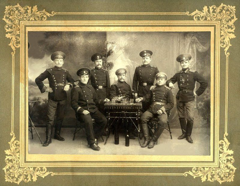 из старого, офицер, солдаты царской россии Бравы ребятушкиphoto preview