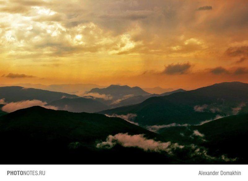 путешествия, кубань, россия, кавказ, пейзаж, небо, горы, облака Страна облаковphoto preview
