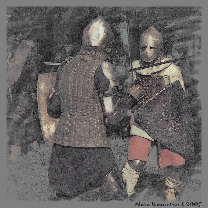 рыцари, турнир Открытка с турнираphoto preview