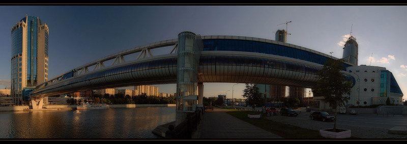 город, москва-сити, мост, багратион, панорама, вечер Багратионphoto preview