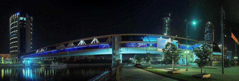 ночной, мост, багратион, бизнес, центр. москва-сити Ночной Багратионphoto preview