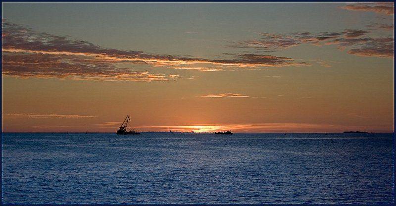 финский залив, вода, закат ***photo preview