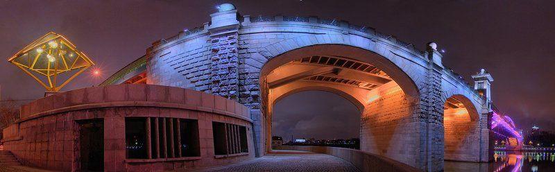 мост, ночь, москва, изгиб МОСТphoto preview