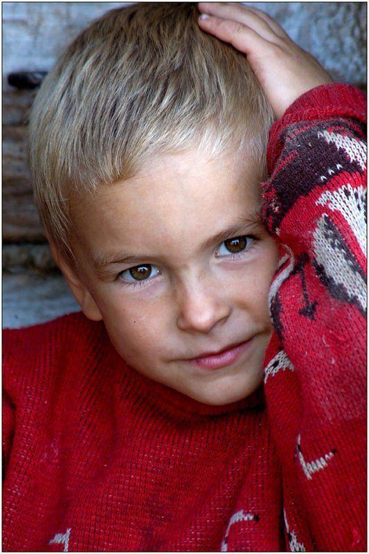 портрет, мальчик, деревня Востроглазый. Из серии \