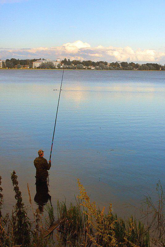 из старого, озеро, рыбак, бологое На вечерней зорькеphoto preview