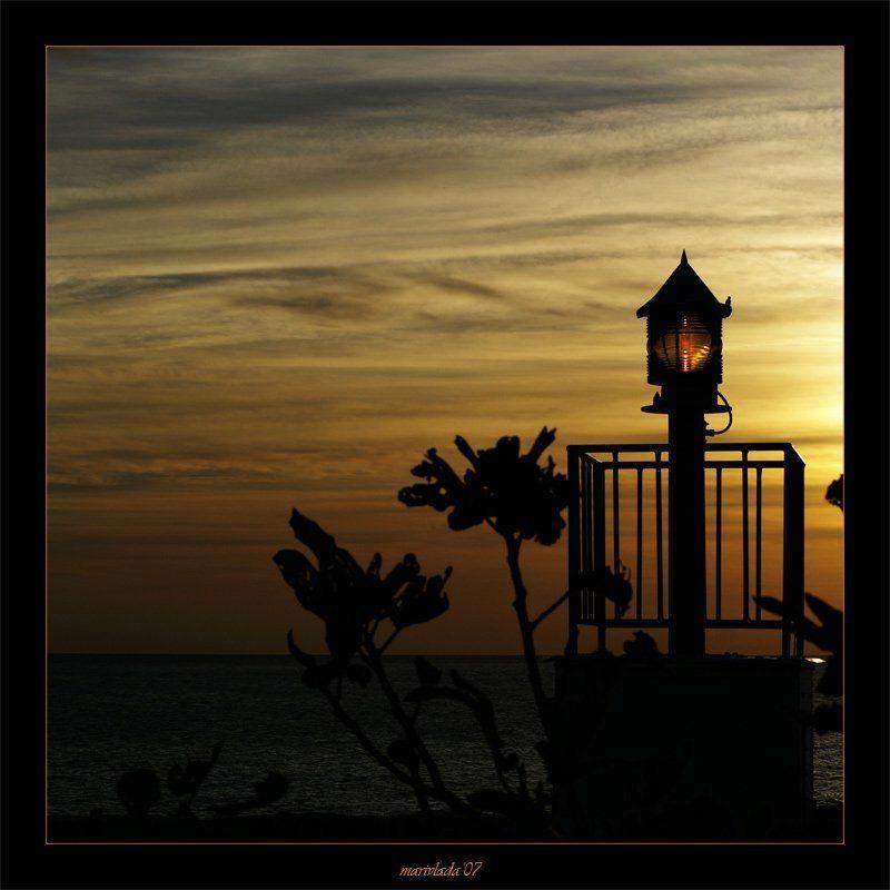 маяк вечер Маячок...photo preview