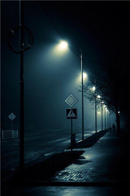 ночь, туман, улица, фонари ***photo preview