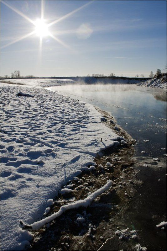 удмуртия,ноябрь,река,вала Ноябрь.Солнце.Мороз.photo preview