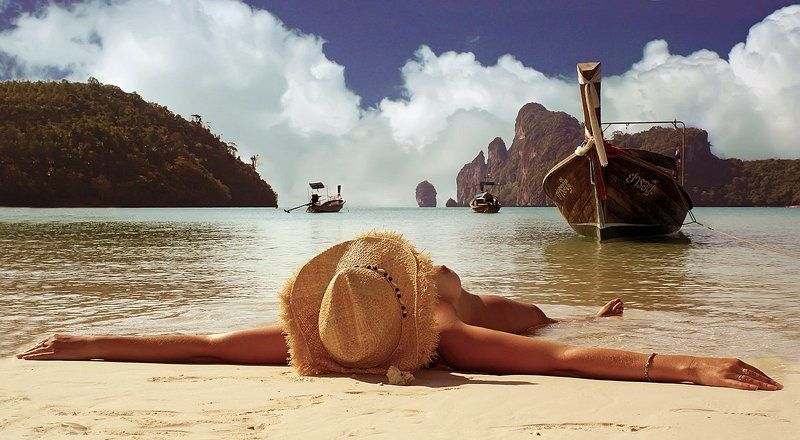 пейзаж,девушка,море,тайланд, Релаксацияphoto preview