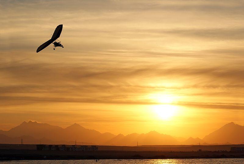 пейзаж,египет,полет,закат Икарphoto preview