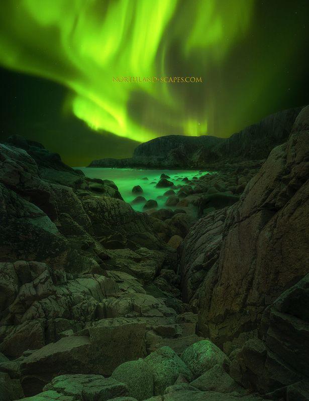 aurora borealis, северное сияние, кольский полуостров, дальние зеденцы Aurora Borealisphoto preview