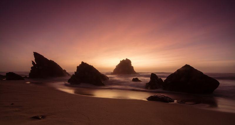 Закат, Атлантический океан, Португалия Волшебство атлантического закатаphoto preview