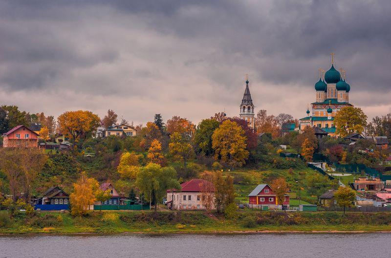 тутаев, осень, россия, волга, небо, романов-борисоглебск,  Осень в Тутаевеphoto preview