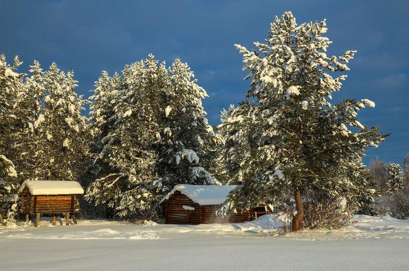 зима, снег, свет, цвет, мороз, музей, Северных ветров поселениеphoto preview
