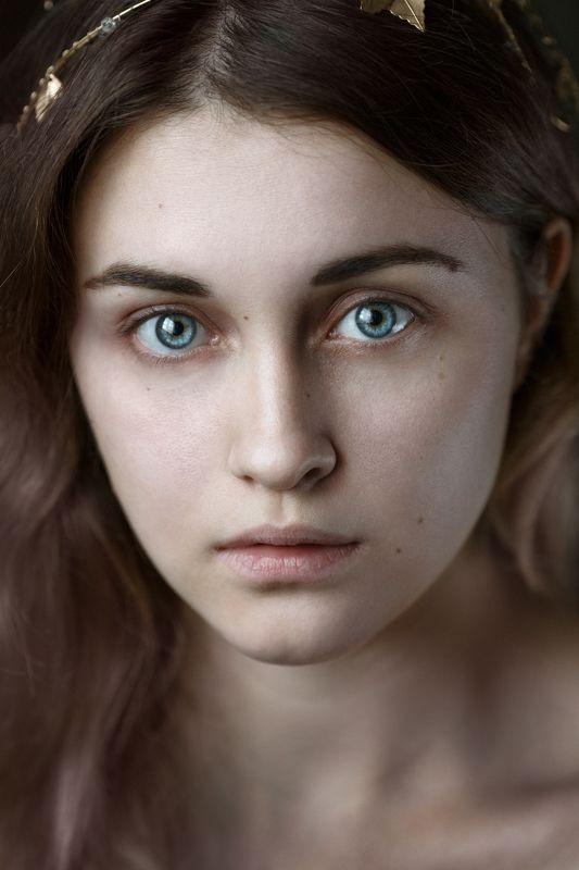 глаза, взгляд, девушка, портрет Космос...photo preview