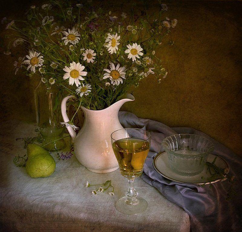 цветы, лето, ромашки Ромашки в белом кувшинеphoto preview