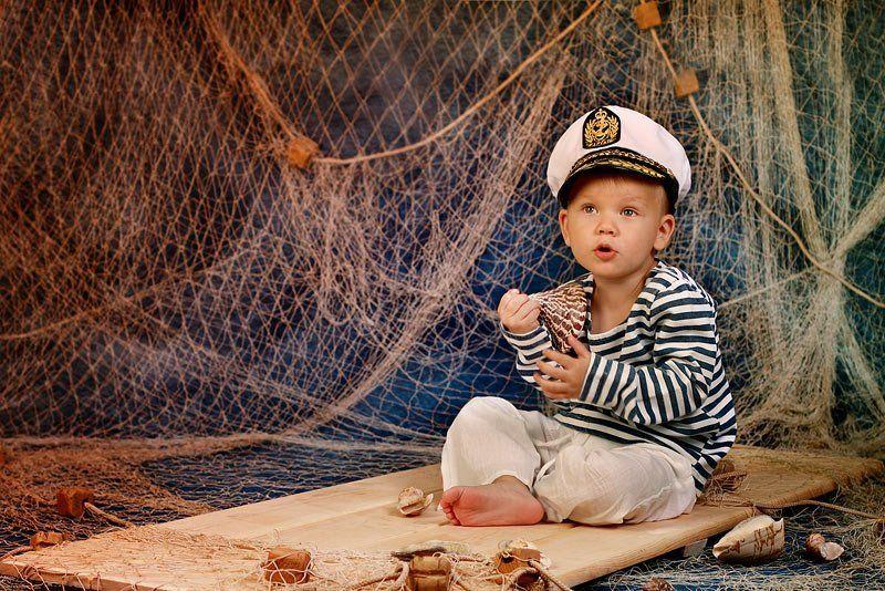 дети,ракушка,мальчик,сеть,море про мореphoto preview