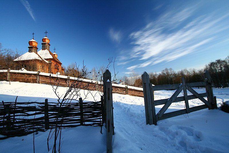 пирогово, зима, снег Зимой в Пироговоphoto preview