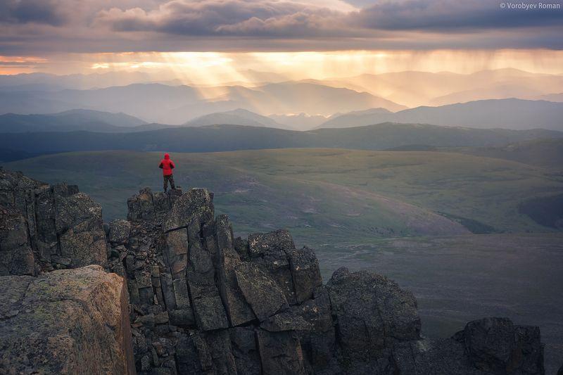 алтай, горы, рассвет, семинский. горный алтай, г.Сарлыкphoto preview