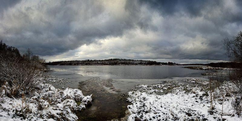 зима, снег, солнце, закат, сугробы, мороз, деревья Меланхолия предзимья 5photo preview