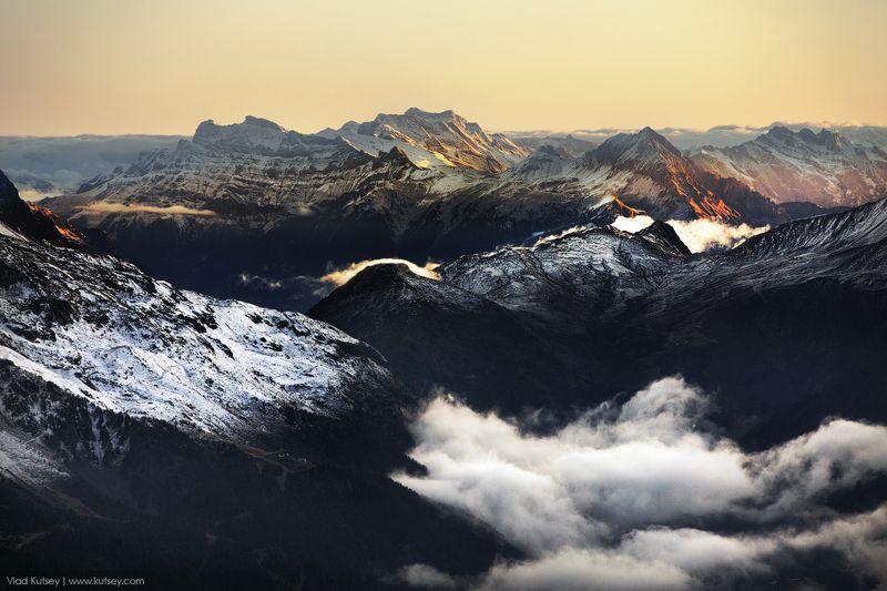 Альпы, Восхождение, гора, горы, закат, рассвет, Франция, Монблан Альпыphoto preview