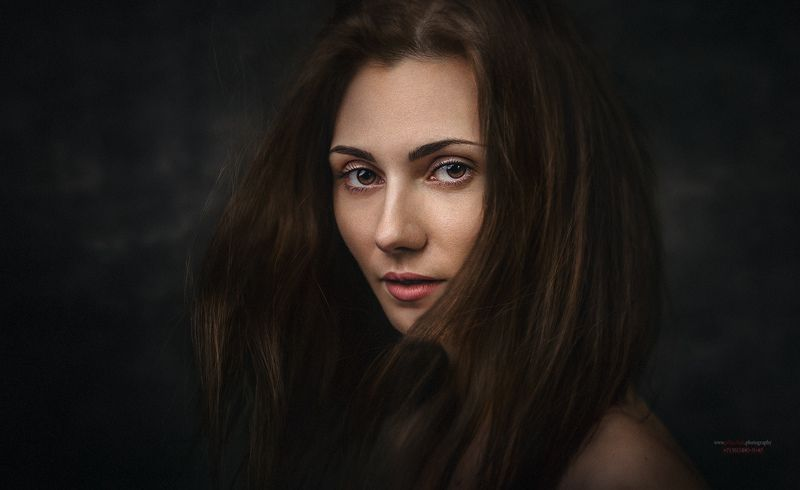 портрет, девушка, в студии, модель, ***9photo preview