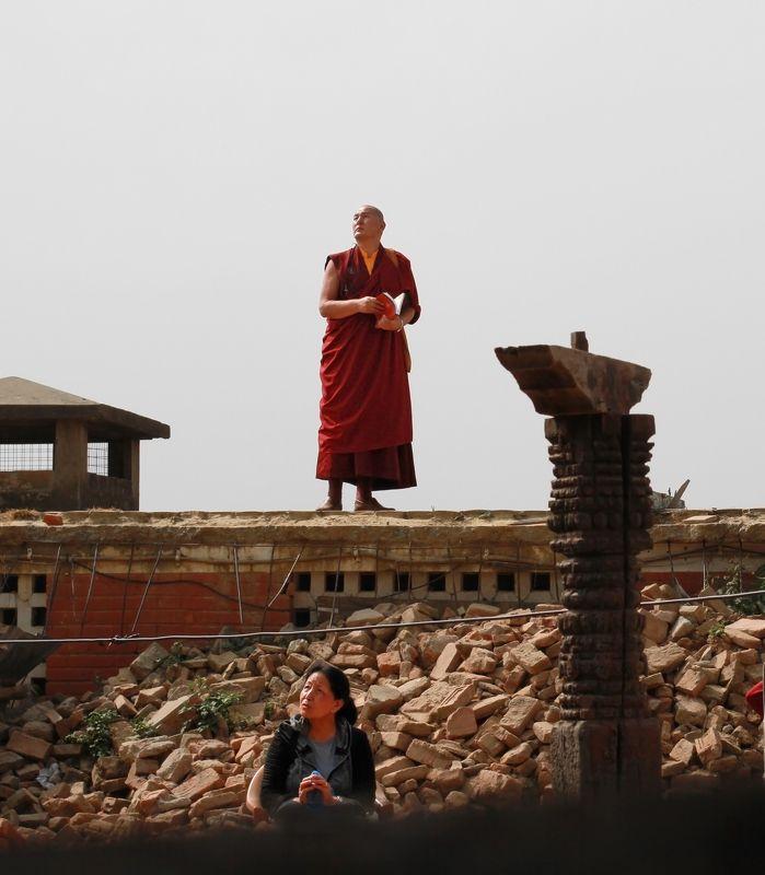 монах, катманду, непал ***photo preview