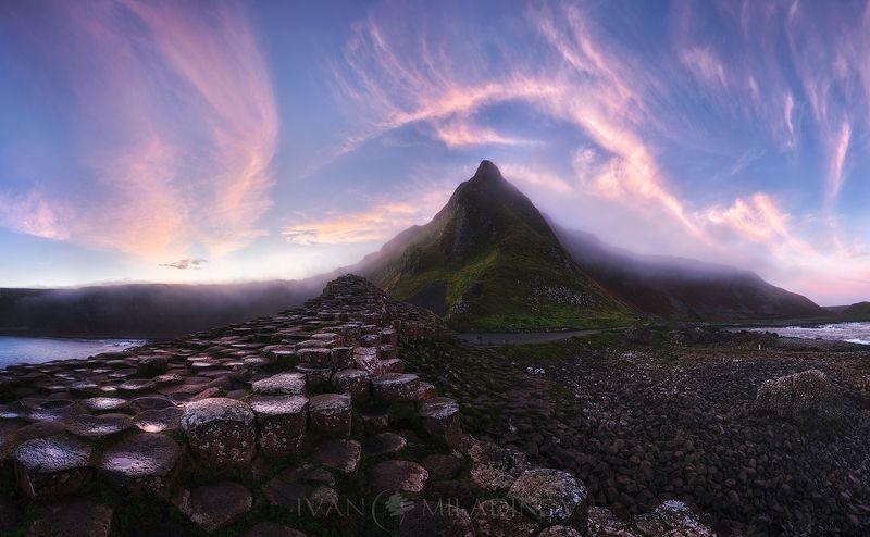 ireland, sunrise, giant caseway, Sleeping dragonphoto preview