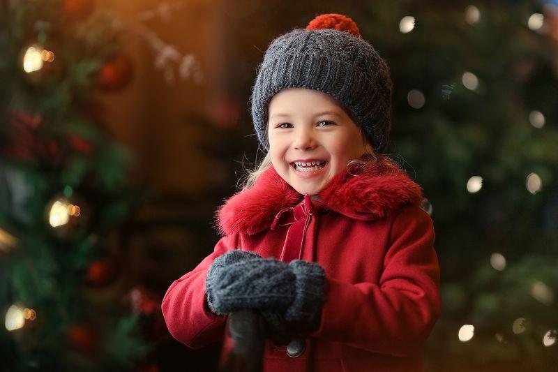 Новогодние портреты для маленькой девочки Анитыphoto preview