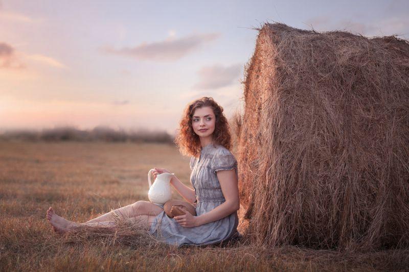 девушка, поле, лето, закат, тепло, красавица, summer, field, warm, sunset, girl, beautiful Anastasiaphoto preview