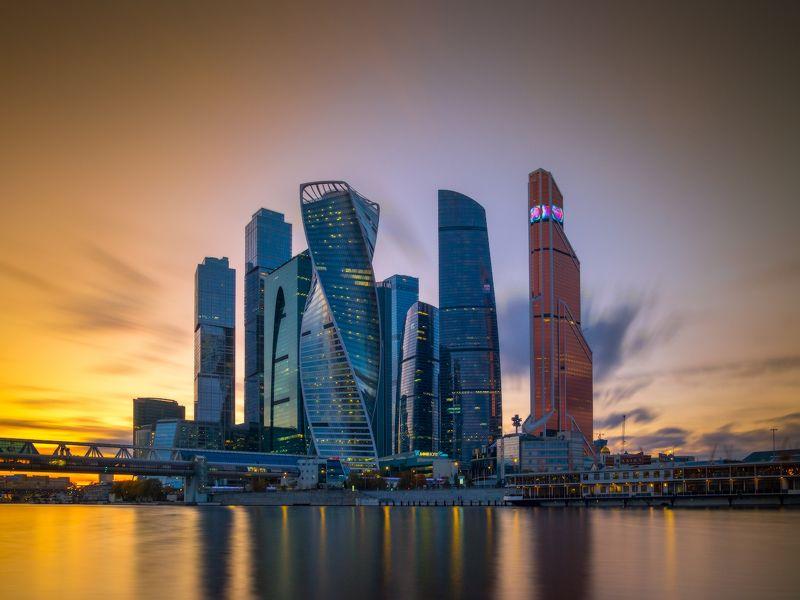 москва-сити, москва, вечер, закат, высотки, башня, деловой центр, эволюция, moscow, city, россия Москва-Ситиphoto preview