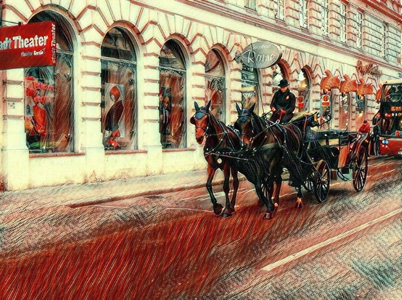 вена,город,лошади,карета,улица,витрины Венские зарисовкиphoto preview