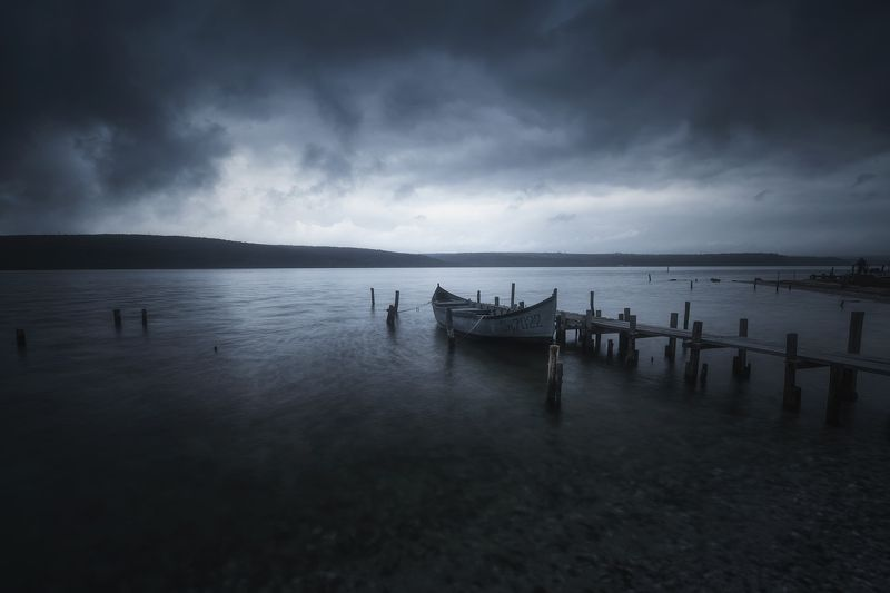 fishing, landscape, nature, boat, storm, clouds, пейзаж, природа Fishing villagephoto preview