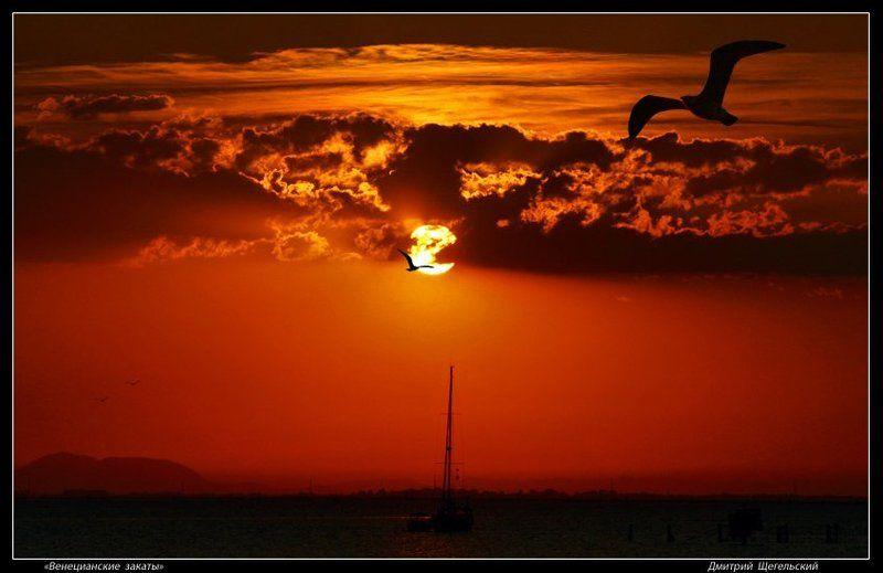 венеция, парусник, закат Венецианские закаты - 2photo preview