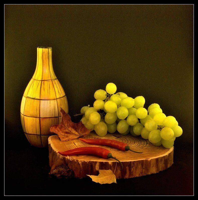still life,red pepper,grape still life with red pepperphoto preview