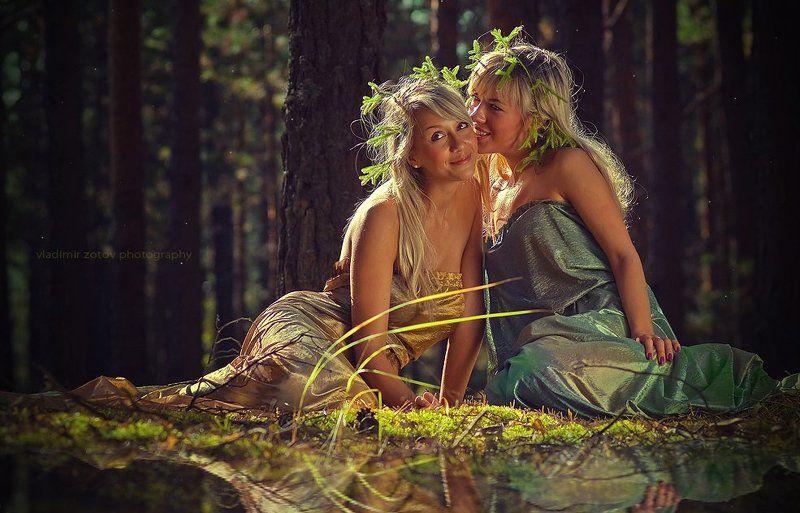 нимфы, лес, шепот, озеро, готово О чем шепчутся нимфыphoto preview