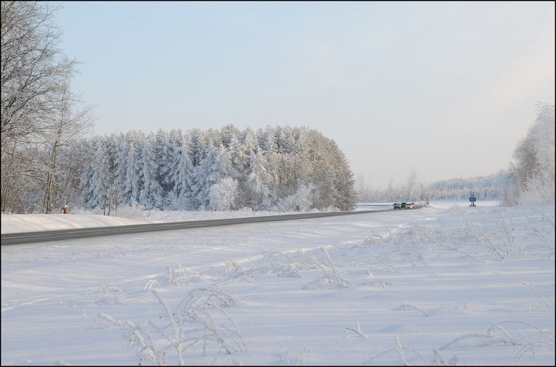 Зима,авто,природа Зимняя симфонияphoto preview